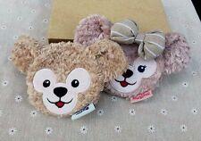 New Disney Duffy Bear Shelliemay Bear Plush Toy Coin Bag Case Wallet  2PCS