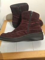 NAOT Designer Women's boots size 4 37 Burgundy Suede Leather Boho Mayan Autumn