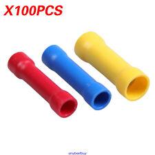 100pcs 12-10 16-14 22-16 GA Heat Shrink Wire Butt Connector Electrical Crimp