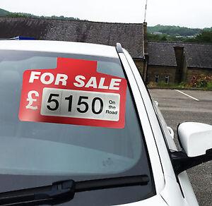 10 x Red Sale Sign Board, Car Price/Pricing Sun visor, Vehicle/AutoPrice Kit