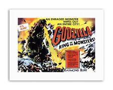 Thriller de terror monstruo Pulpa De Godzilla Japón película lona impresiones artísticas Burr King