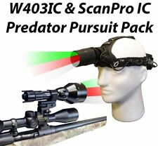 Wicked Lights W403IC & ScanPro IC Predator Pursuit Night Hunting Light ComboKit