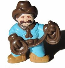 Lot of 1 Genuine Lincoln Logs Blue Male Cowboy Minifigure Pa Mayberry - As Shown