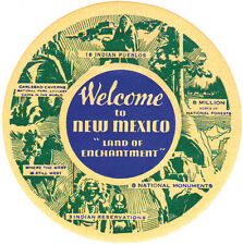 New Mexico 8 Natl. Monuments  Vintage 1950's-Style  Travel Decal  Sticker  Label