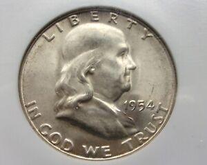 1954 S Franklin Half Dollar MS 66