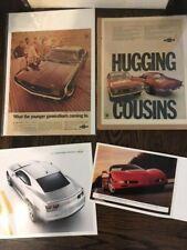 Lot of Four (4)  Chevrolet Camaro Corvette Sport Ads, Brochures, The Hugger 350