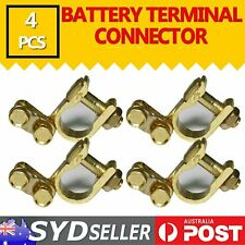 2set -4pcs Unique Brass Battery Terminals For Cars Camper 4WD Easy to Install