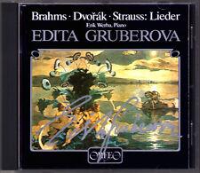 Edita GRUBEROVA Signiert BRAHMS DVORAK STRAUSS Mädchenblumen Lieder CD Autograph