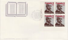 CANADA #661 8¢ ALPHONSE DESJARDINS LL PLATE BLOCK FIRST DAY COVER