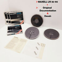 "MAXELL LN 35-90 7"" Reel to Reel Tape Reel Recording Tape 7 inch 18cm 1800ft 550m"