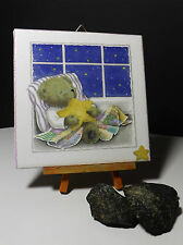 Dekofliese Bildfliese Wandfliese mit Serviettentechnik Gute Nacht Teddy (018)