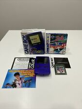 Boxed Grape Nintendo Gameboy Color Console With Manuals, Inserts And 1 Game.