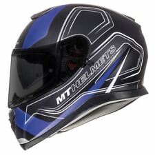 MT Thunder 3 Trace Full Face Motorcycle Helmet Matt Blue Black 2017 M