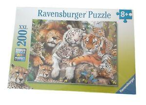 "NEW Ravensburger 200 XXL Premium Piece Puzzle  ""Big Cat Nap""  19"" x 14"" inches"