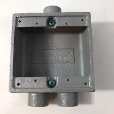 New In Box Hubbell Killark 2fsd 2m 34 Iron Switch Box Flush Switch Setting