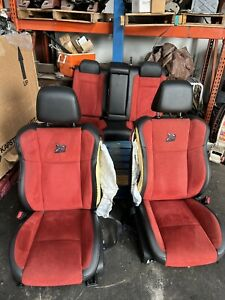 2021 DODGE CHARGER SCATPACK WIDEBODY LEATHER SUEDE FRONT REAR SEATS RED BLACK