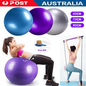 Yoga Ball Home Exercise Gym Pilates FIitness Anti-Burst 65-85cm With Pilates Bar