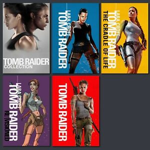 FRIDGE MAGNETS - TOMB RAIDER - COLLECTION SET OF 5