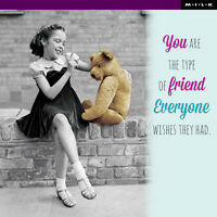 You're Friend Everyone Wishes They Had Greeting Card Square Milk Range Cards