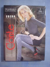 Conte Fantasy Edera Sprinkle Pattern Pantyhose Size 2 in Gray