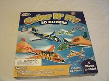 Grafix Color N' Fly 3D Gliders New