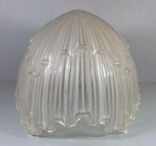 Dicke ART DECO Pressglas-Lampenschale  Frankreich 30er J. m. 4 Löchern  (Nr. 47)