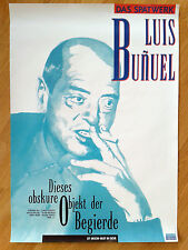 LUIS BUNUEL rare special German 1-sheet THAT OBSCURE OBJECT OF DESIRE unfolded!