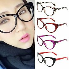 Sexy Cadre Retro femme Lunettes dames Fashion Cat Eye Lens Clear Eye Glasses