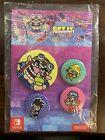 WarioWare: Get It Together! Button Pin Set of 4 My Nintendo Reward Wario Ware
