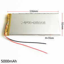 5000mAh 3.7V Lipo Battery rechargeable For power bank tablet pc Laptop 7051116
