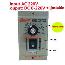 220V AC Drehzahlregler Speed Controller Für 400W Motor DC 0-220V Regler