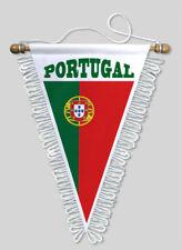 FANION TRIANGLE PORTUGAL - 18 X 25 CM - BLASON ECUSSON FOOTBALL