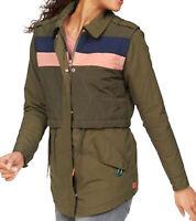 SCOTCH & SODA Colourblocking-Jacke dünne Damen Übergangs-Jacke Westen-Optik Grün