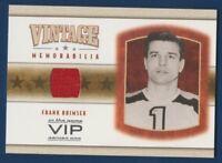 FRANK BRIMSEK 03-04 IN THE GAME VIP 03-04 VINTAGE MEMORABILIA JERSEY RARE 16194