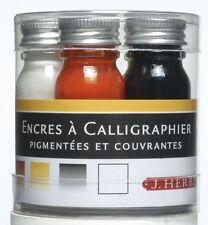 J Herbin Tinta de Caligrafía Set - 5 Colores en botellas de 10ml