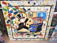 BEFORE IT GOES!!$8000 RARE ORIG MIXED MEDIA MONOPOLY MONEY RULES VINCENT BYRNES!