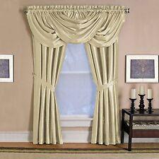 "New Elrene Versailles 52"" x 108"" ONE Rod Pocket  Window Panel  Ivory"