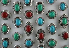 Wholesale Jewelry Mixed Lots 42pcs Natural Stone Women Lady's Trendy Rings Gifts