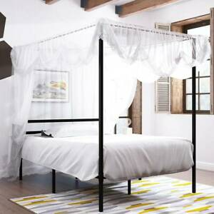 YITAHOME Metal Platform Full Size Canopy Bed Frame Mattress Foundation Home Room