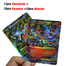 35pcs Latest Pokemon EX Cards TCG Charizard Rayquaza Mewtwo Shinny Cards for Kid