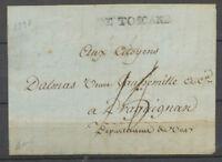 1798 Lettre DE TOSCANE, mis à ANTIBES, SUP X4110