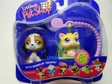 Littlest Pet Shop Super Rare BEAGLE lot #113 KITTEN CAT w/Swing #114 Retired NIB