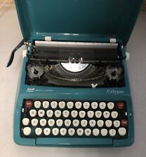 Vintage Smith Corona Calypso Manual Portable Typewriter with Case Turquoise