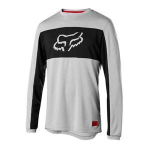 Fox Ranger Dri-Release Foxhead Long Sleeve Jersey - Steel Grey, Black/Orange