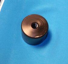 304007-cyl  Cylinder nut, 3/8-8 acme 4 st RH thread, single start, Black Delrin