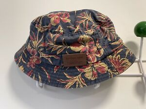 Ripcurl Surf Vintage Style Bucket Hat Red Yellow Floral Design Size Large CHAAY1