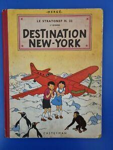 jo zette et jocko - Destination New York - B8 1953 - Bon état