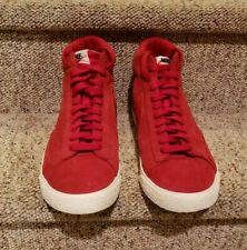 Nike Blazer Red Suede High Tops Size 10.5 - Great Pre-owned Condition