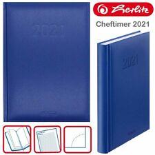 Herlitz Cheftimer A5 Buchkalender 2021 - Blau