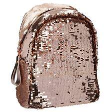 TOPModel kleiner Rucksack Streichpailletten Gold-metallic, Kinderrucksack, 10112